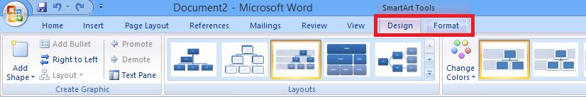 Cách vẽ sơ đồ trong Word - Format SmartArt