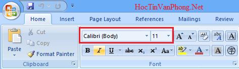Cài đặt font chữ mặc định trong Word 2007