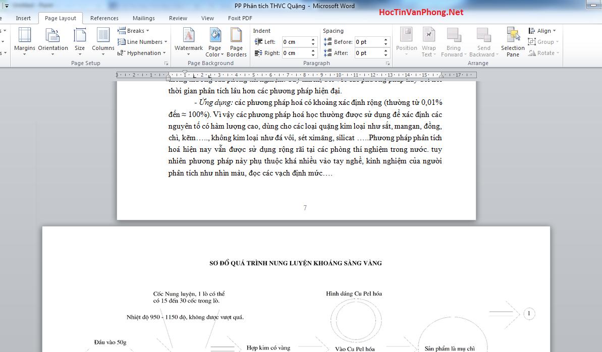 Cách xoay ngang 1 trang giấy bất kỳ trong word