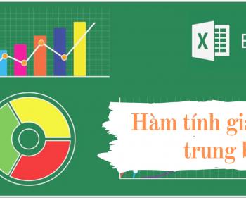 Hàm tính giá trị trung bình AVERAGE trong Excel
