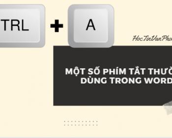 Một số phím tắt thường dùng trong Word