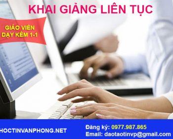 Đăng ký học tin học văn phòng tại Hà Nội