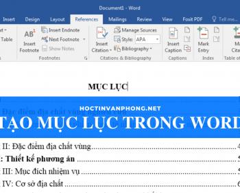 Cách tạo mục lục trong Word siêu nhanh, siêu dễ dàng