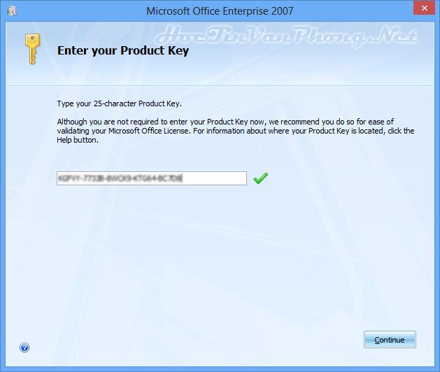 Cách cài Office 2007 - B2