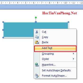 Cách vẽ sơ đồ trong word - AddText